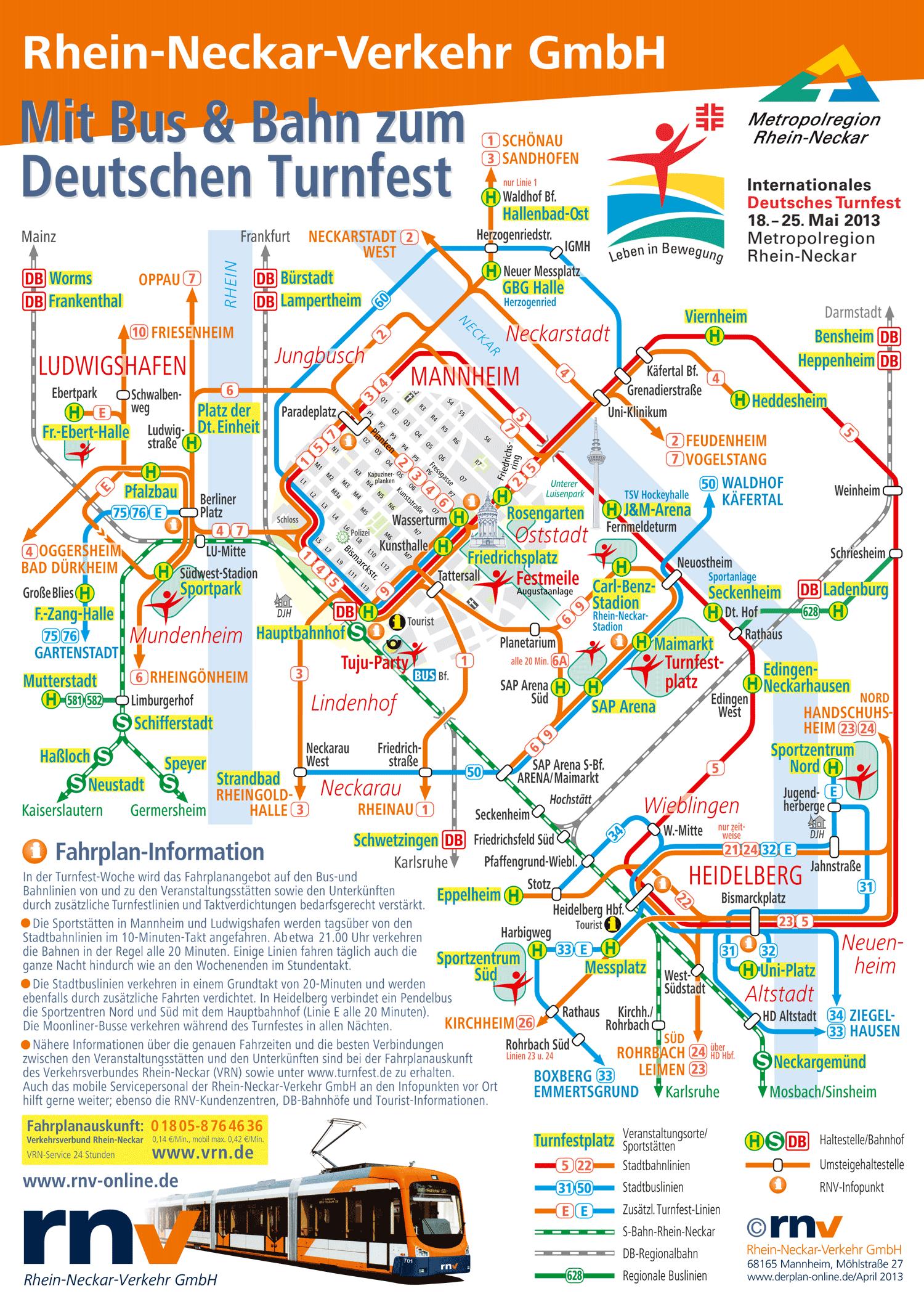 Linienplan Turnfest Mannheim