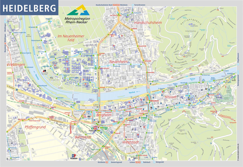 Stadtplanausschnitt Heidelberg